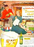 Click here to enlarge image and see more about item Z7406: 1957 Ballantine Light ALE AD MIKE LUDLOW ART