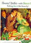 1957 7UP Seven up AD BEAUTIFUL ARTWORK