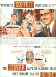 1947 Nescafe Soluble COFFEE AD CUTEST ART