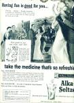Alka Seltzer ad Beautiful Vintage ARTWORK