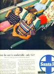 Click here to enlarge image and see more about item Z7456: Santa Fe streamliners ad 1955