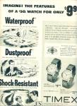 Timex watches ad 1953