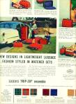 Leed's trip- zip ensemble luggage ad  1953