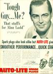 Click here to enlarge image and see more about item Z7489: 1953 Auto Lite  AD ALAN LADD - Louis Bisogni