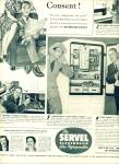Click here to enlarge image and see more about item Z7497: 1939 SERVEL Refrigerator AD Artist WILLIAMSON