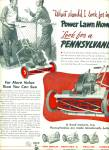Click here to enlarge image and see more about item Z7531: Pennsylvania power lawn mowers ad 1952
