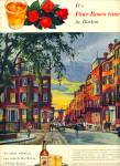 1955 FOUR ROSES AD Beacon Hill Boston ART