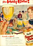 1955 Goetz Country Malt Liquor AD PARTY ART