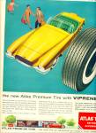 1955 Atlas TiresAD w/ VIPRENE Family ART