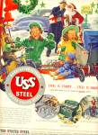 1947 US Steel AD BEAUTIFUL CHRISTMAS ARTWORK