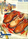 1946 Jarman MEN SHOES AD Indian ARTWORK