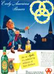 Click here to enlarge image and see more about item Z7720: 1941 Ballantine Ale AD ben Franklin Pioneer