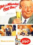 Click here to enlarge image and see more about item Z7741: 1962 BLATZ BEER AD Bert LAHR OZ Lion
