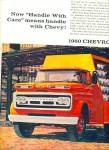 Click here to enlarge image and see more about item Z7805: 1960 Chevrolet CHEVY TRUCK AD 2pg ART SIP