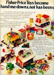 Click here to enlarge image and see more about item Z7894: Fisher-price toys ad 1972