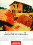 Owens/Corning fiberglas insulation ad 1968