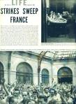 Click to view larger image of Strikes sweep France Expose story - 1953 (Image1)