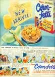 1953 CORN-FETTI Corn Flakes AD Captain JOLLY