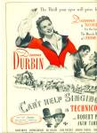 1945 Movie CANT HELP SINGING Deanna Durbin AD