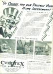 Celotex building products ad 1942