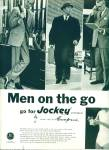 Click here to enlarge image and see more about item Z8069: 1956 Jockey Underwear AD FOR MEN ON THE GO