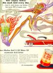 Click here to enlarge image and see more about item Z8095: Shell X-100 Motor OIL AD ARTZYBASHEFF ART