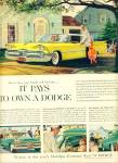 1959 Dodge Yellow Car PROMO AD Cool Art