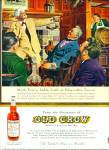 Old Crow bourbon whiskey ad 1959