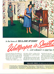 Click here to enlarge image and see more about item Z8183: 1954 Wallpaper AD TEX - JINX McCrary
