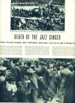 Click here to enlarge image and see more about item Z8214: Death of the Jazz singer - AL JOLSON  1961