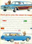 1960 Ford Station Wagon AD COOL BLUE CAR ART