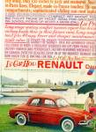 Click here to enlarge image and see more about item Z8312: Renault Dauphine automobile ad 1959