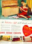 Click here to enlarge image and see more about item Z8340: Lane Cedar chests ad 1951