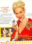 Click here to enlarge image and see more about item Z8348: Chesterfield cigarettes - VIRGINIA MAYO  AD