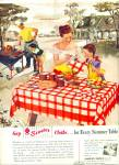 Click here to enlarge image and see more about item Z8450: 1948 -  Simtex Mills cloths for summer table