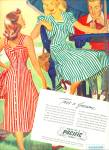 Click here to enlarge image and see more about item Z8452: 1948 - PACIFIC MILLS Clothing AD ARTWORK CUTE