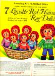1971 Greenland Studios Red Haired rag doll AD