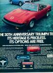 Click here to enlarge image and see more about item Z8610: 1980 -  Triumph TR7 automobile ad