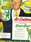 Click here to enlarge image and see more about item Z8656: 1950 - Jolly Green Giant - ART LINKLETTER ad