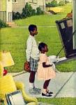 1967  Negro in the suburbs NORMAN ROCKWELL
