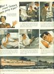 1946 - Go Pullman ad TRAIN Roswell Brown ART