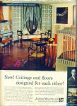 1961 - Johns-Manville ceilings and floor ad