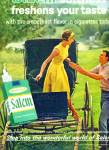 1964 -  Salem filter cigarettes ad AMISH BUGGY RIDE