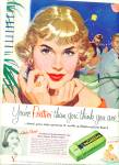 Click here to enlarge image and see more about item Z8851: 1957 -  Palmolive gentle soap ad