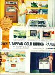 Click here to enlarge image and see more about item Z8876: 1957 -  Tappan gold ribbon range ad