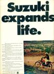 Click here to enlarge image and see more about item Z8883: 1972 - Suzuki motors ad