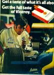 1972 - Viceroy filter cigarettes ad RACING