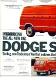 Click here to enlarge image and see more about item Z8919: 1970 -  Dodge Trucks - Tradesman Van ad
