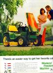 Click here to enlarge image and see more about item Z8922: 1970 -  John Deere lawn tractor ad WEEKEND FREEDOM