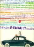 1959 -  Renault Dauphine automobile ad